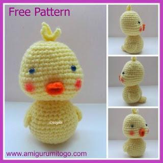 crochet yellow duck